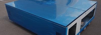 3000×1500の大型板金加工品にも対応する、表面仕上げ・研磨